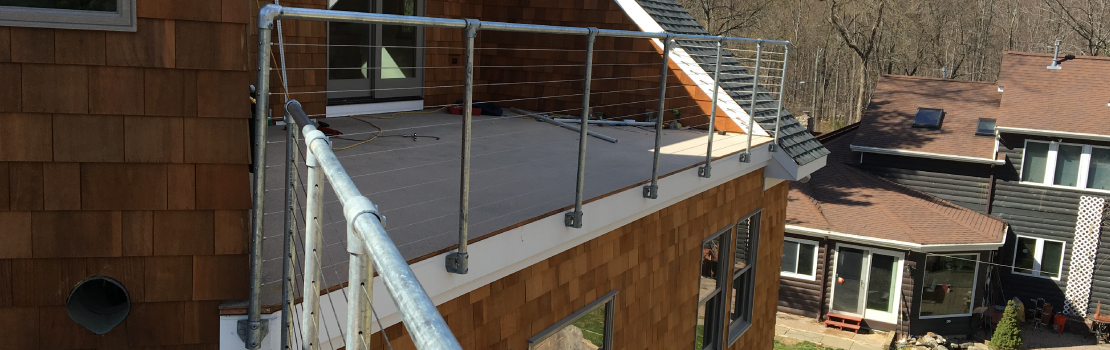 Galvanized steel railing