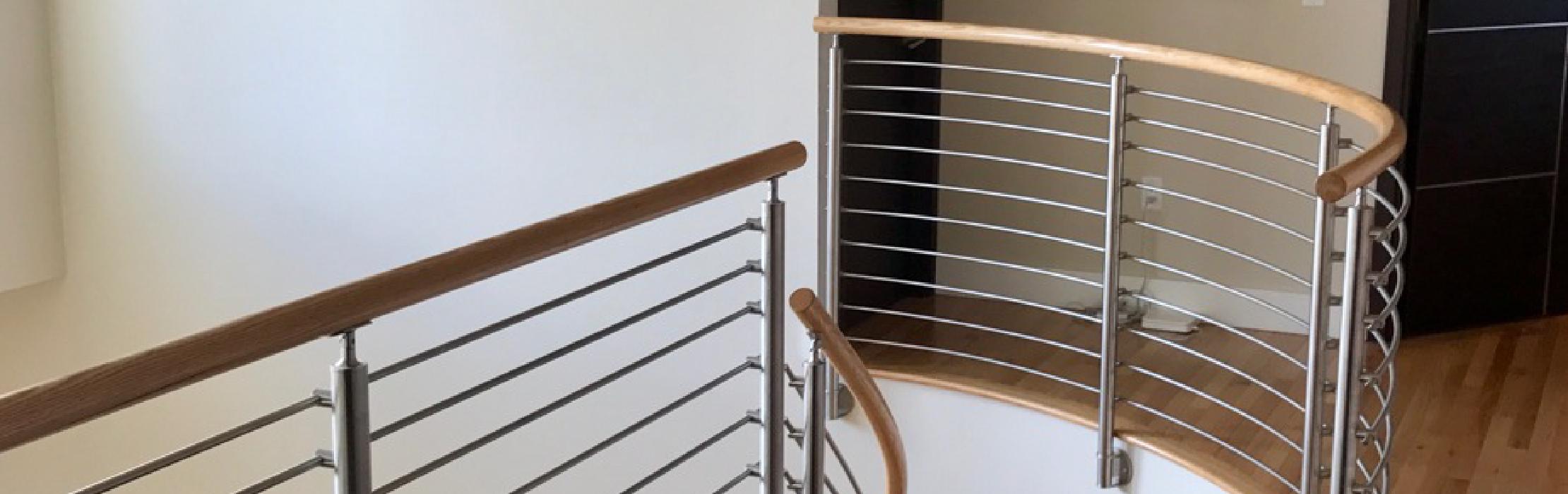 ᑕ❶ᑐ Stainless Steel Crossbar Railing Posts