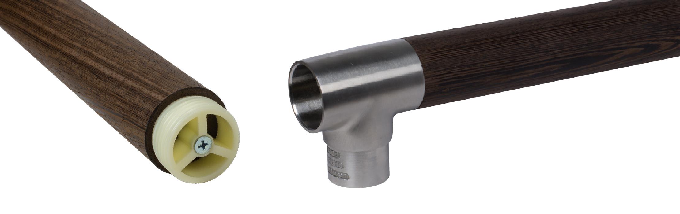 modern wood handrail