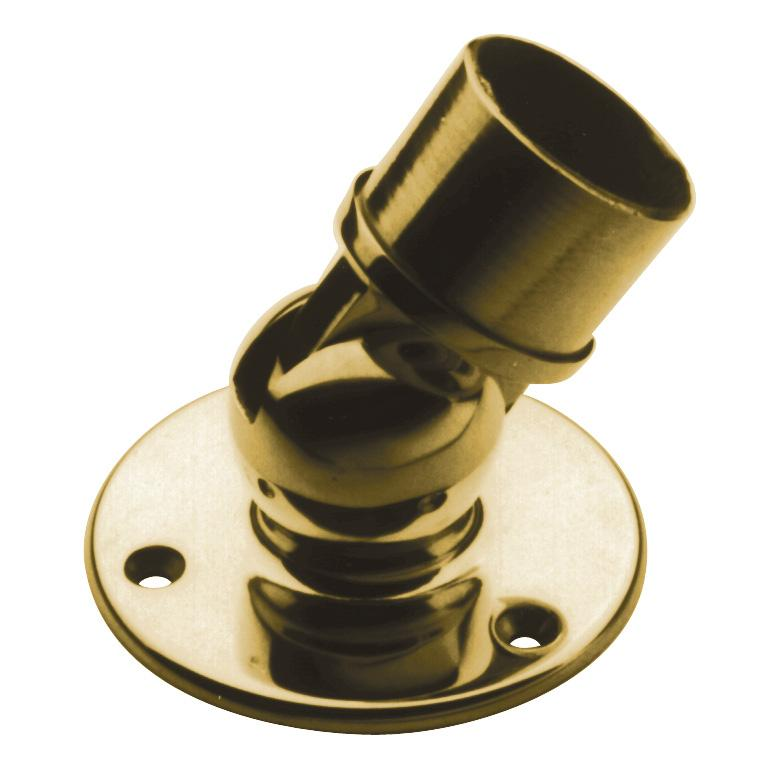 Adjustable angle flange architectural railings