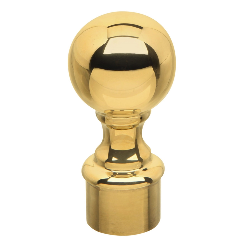 Polished Brass Ball Finial 1 Quot Od 00 604 1