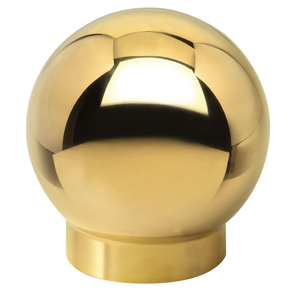 Polished brass ball single outlet quot od