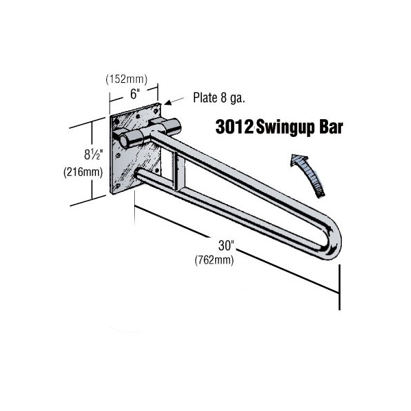 swingup bar - 3012 - industrial railings