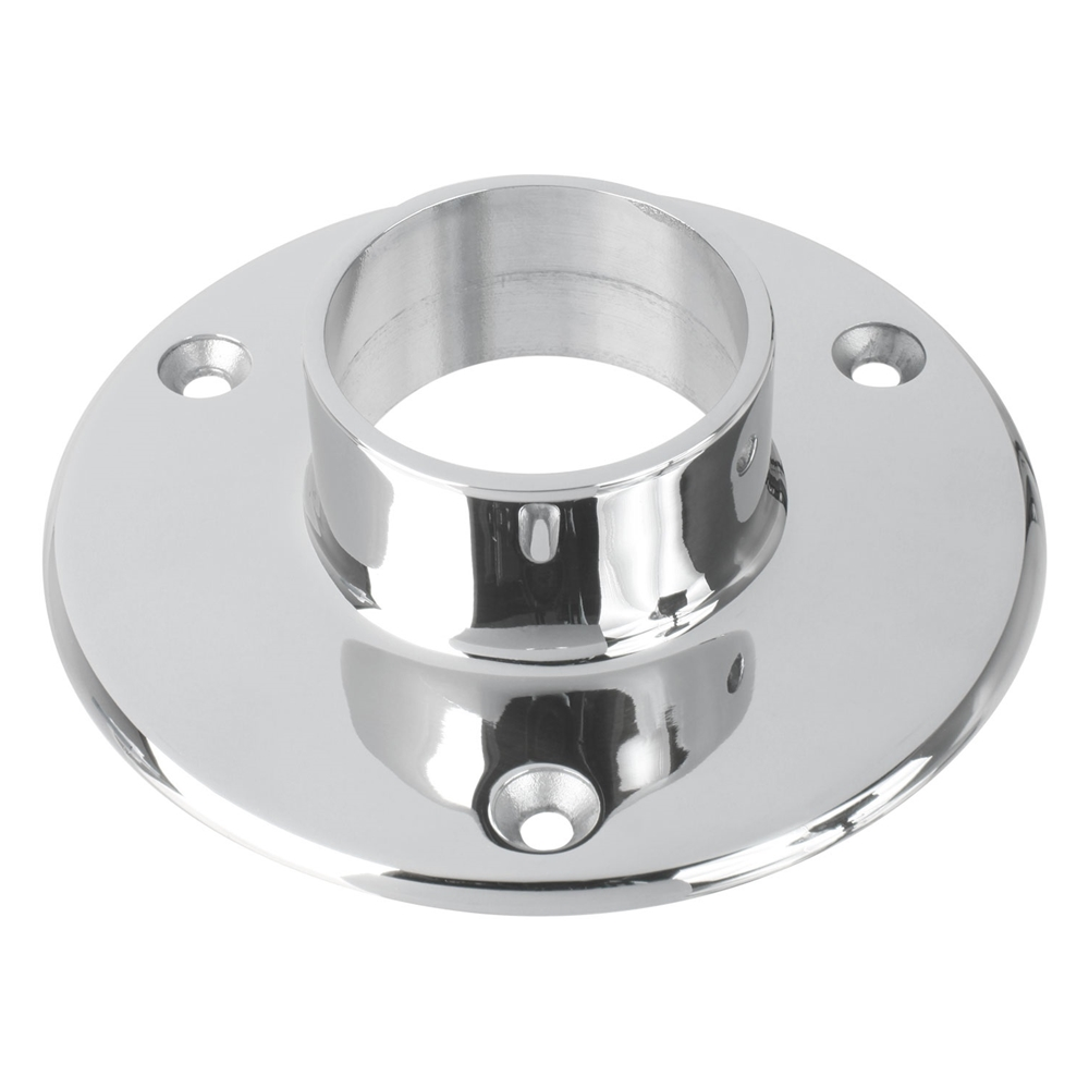 Polished stainless steel quot floor flange od