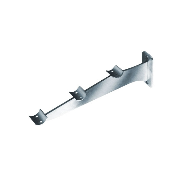 Satin Brushed Stainless Steel Tray Slide Bracket 3 Rails