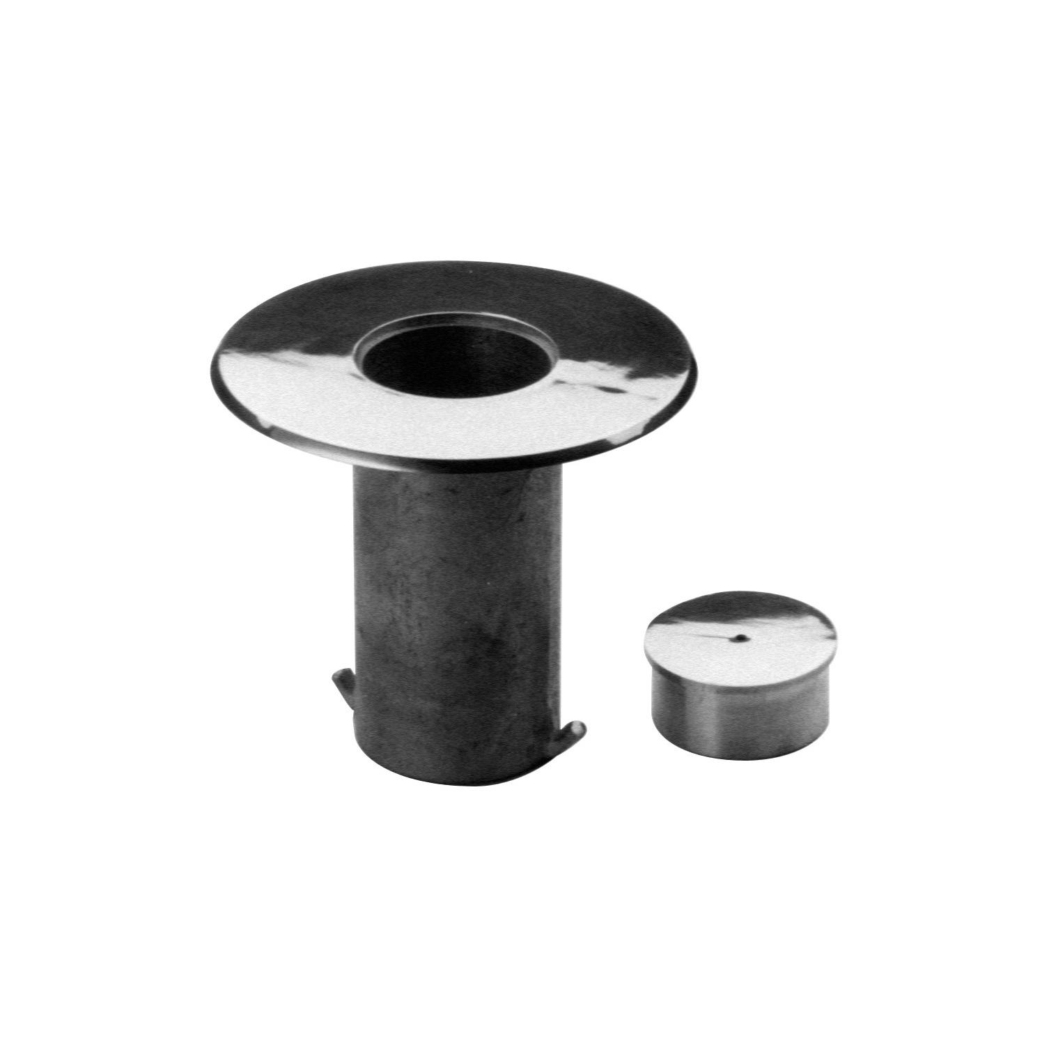 Satin Brushed Stainless Steel Floor Socket With Cap 2