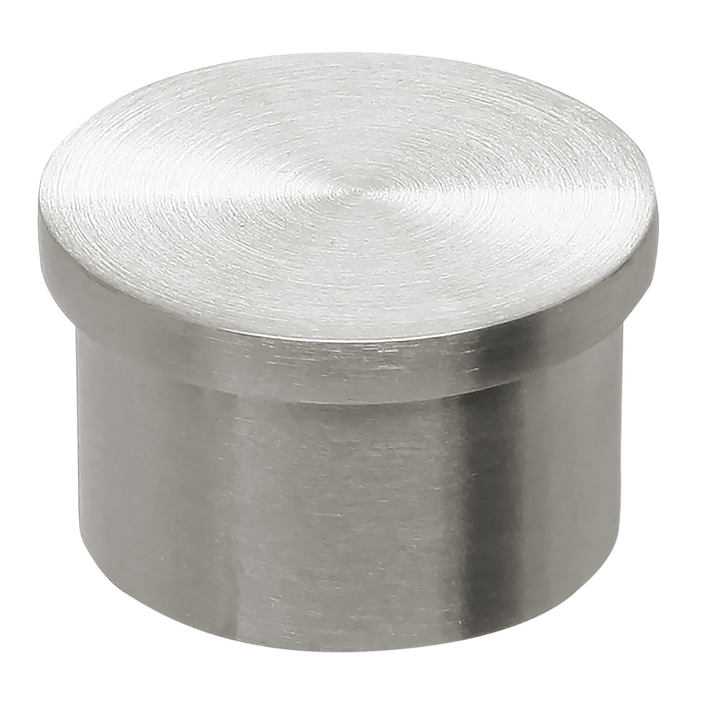 Satin brushed stainless steel flush end cap quot od