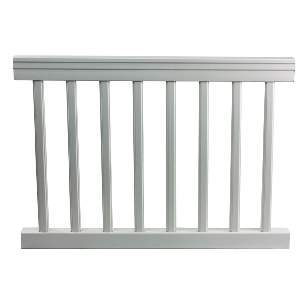 railings kit top rail w pickets srkt3250 pvc railing systems pvc railing systems. Black Bedroom Furniture Sets. Home Design Ideas