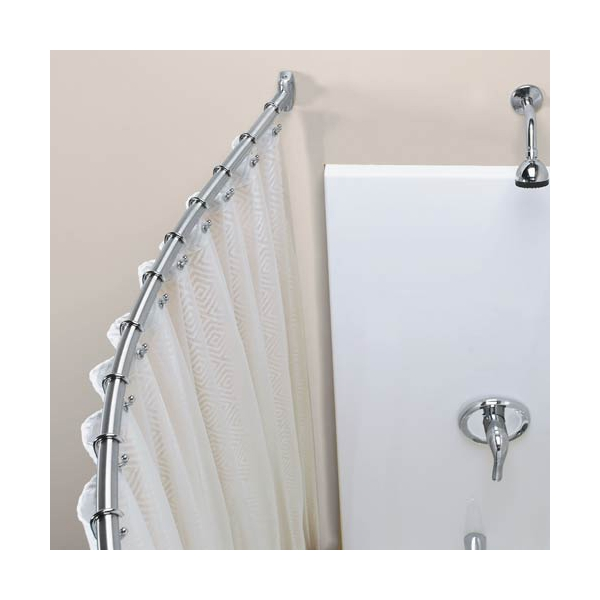 Shower Curtain Rod Installation, How To Install A Tension Shower Curtain Rod On Tile