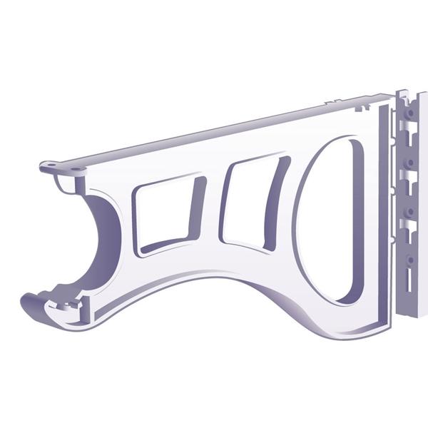 Plastic Shelf And Rod Support Lb 80 4850m Closet