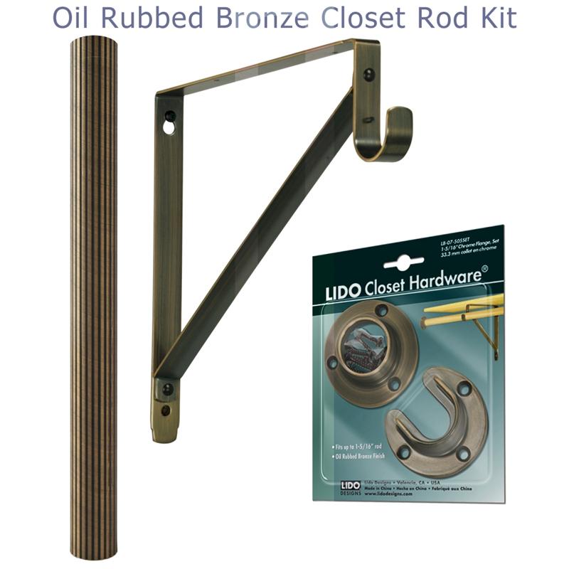 Closet Flange Set for Tubing Finish Copper Oil Rubbed Bronze