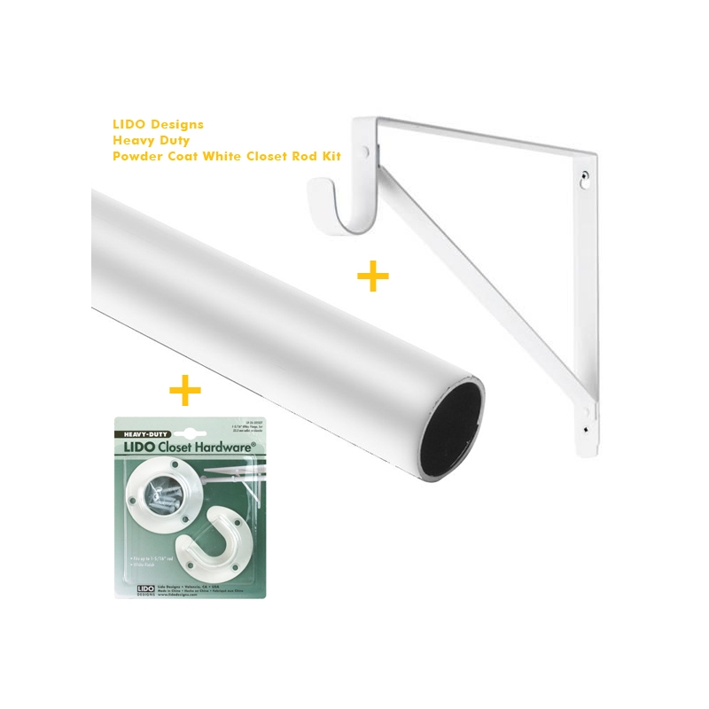 LB CK26 A106 White Closet Rod Kit