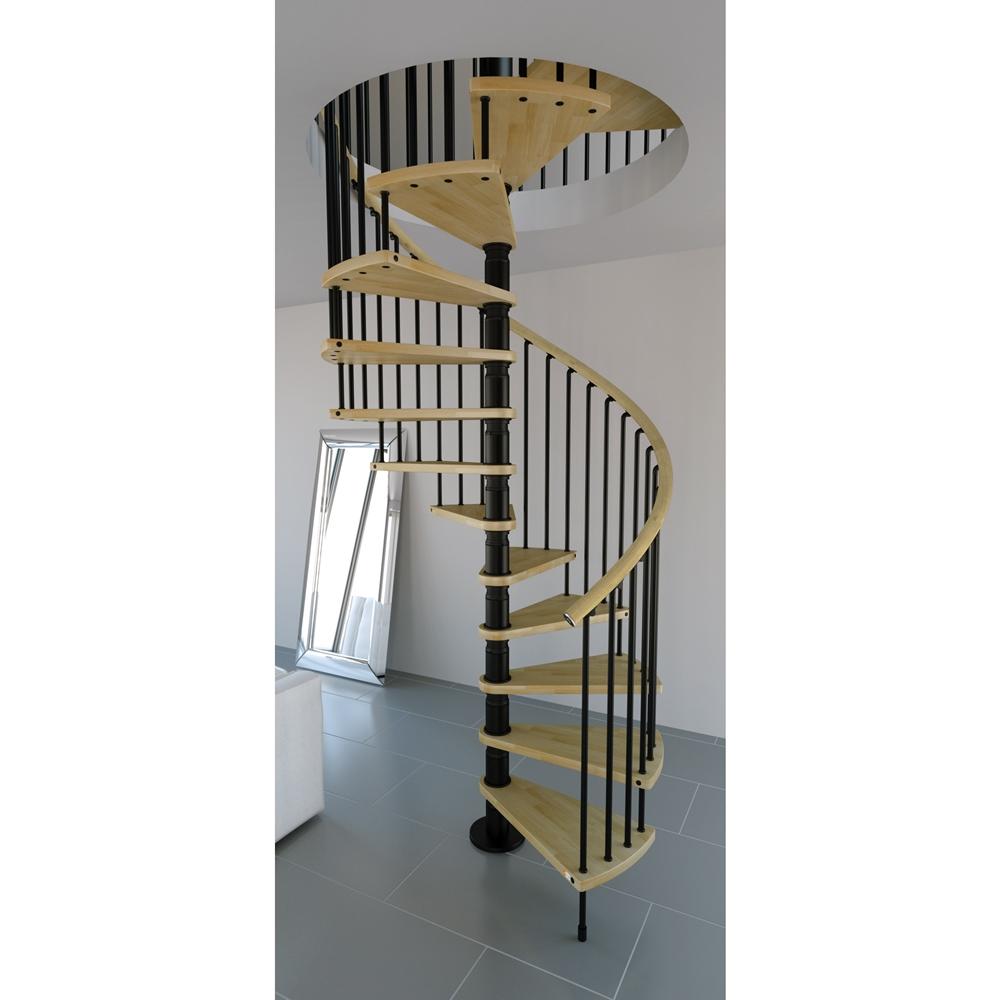 Spiral Stair Kit - Natural Wood - SPSGW-NAT ...