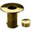 00-545/2 Polished Brass Floor Socket With Cap 2%22 OD
